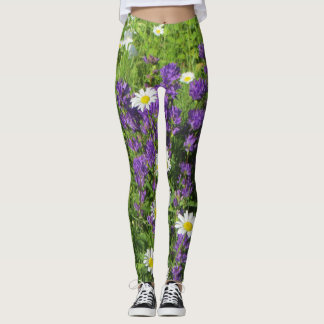 Campanula & Daisies Leggings