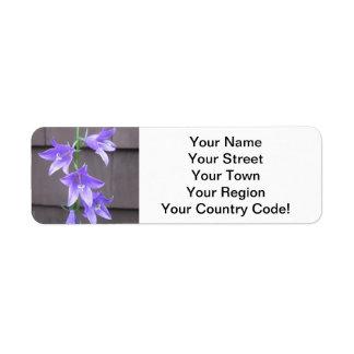 Campanula Garden Plant Flower Blue Return Address Label