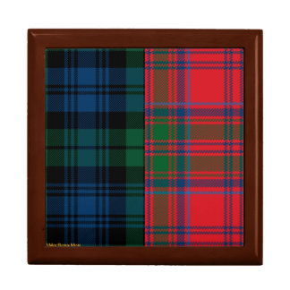 Campbell and Grant Clan Tartan Gift Box