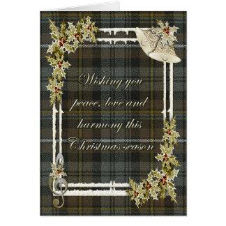 Campbell Argyle Weathered Tartan Christmas Card