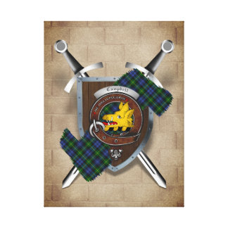 Campbell Clan Badge Crossed Swords Canvas Print