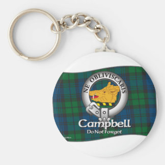 Campbell Clan Basic Round Button Keychain