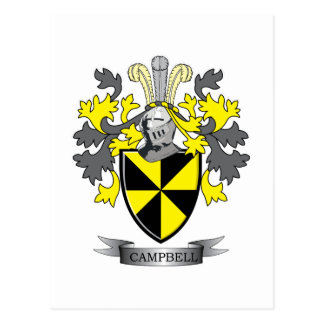 Campbell Family Crest Coat of Arms Postcard