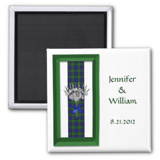 Campbell or Black Watch Tartan Wedding Favor Magnet