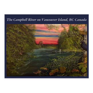 Campbell River fishing trip on Vancouver Island. Postcard