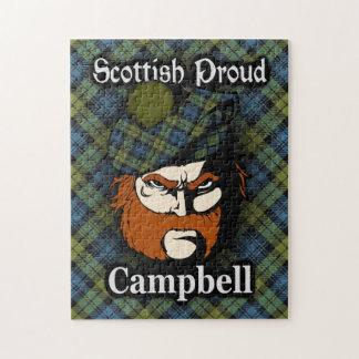 Campbell Scottish Proud Tartan Jigsaw Puzzle