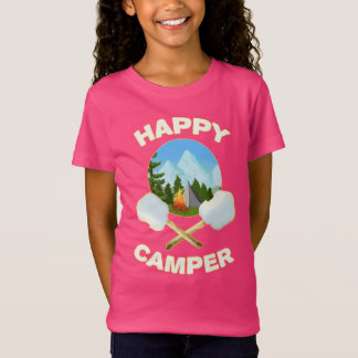 Camper Happy Camping Roasting Marshmallow Campfire T-Shirt