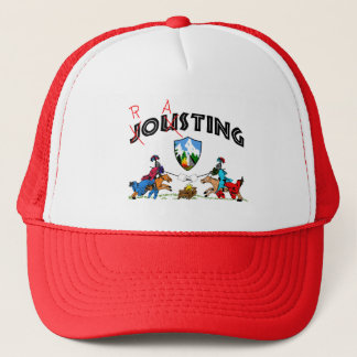 Camper Knights Roasting Marshmallow On Lance Funny Trucker Hat