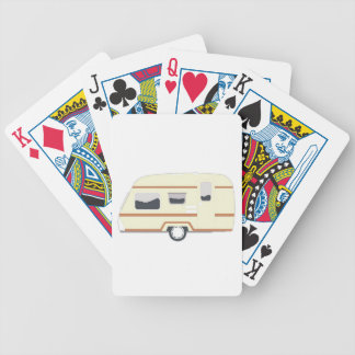 Camper Trailer Camping Van Bicycle Playing Cards