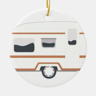 Camper Trailer Camping Van Ceramic Ornament