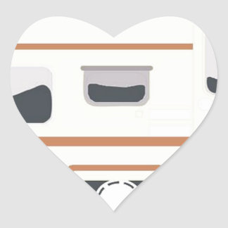 Camper Trailer Camping Van Heart Sticker