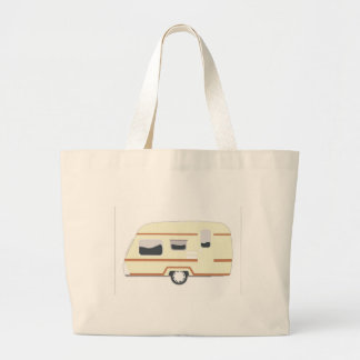 Camper Trailer Camping Van Large Tote Bag