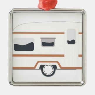 Camper Trailer Camping Van Metal Ornament