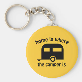 Camper Trailer Home Funny Keychain