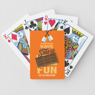 Campers Have S'more Fun Glamping Gift Bicycle Playing Cards