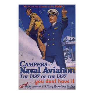 Campers of Naval Aviation Poster