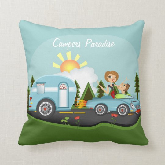 Campers Paridise Throw Pillow