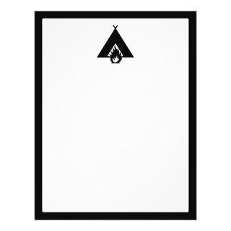 Campfire and Tent Symbol Flyer Design
