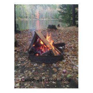 Campfire at Lincoln Pond Postcard