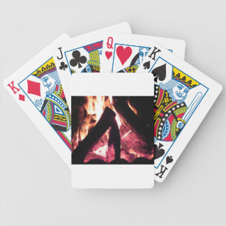 Campfire at night bicycle playing cards