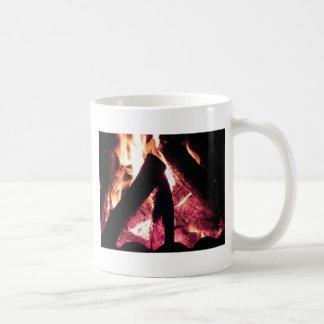 Campfire at night coffee mug