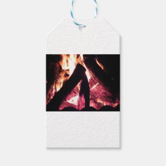 Campfire at night gift tags