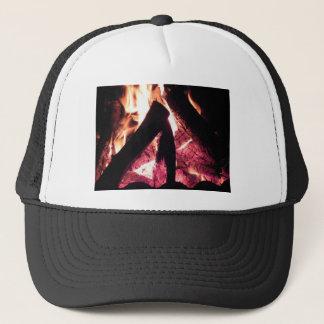 Campfire at night trucker hat
