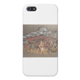 Campfire Cowboy iPhone 5 Cover