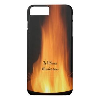 Campfire Flames Burning Black Orange Fire iPhone 8 Plus/7 Plus Case
