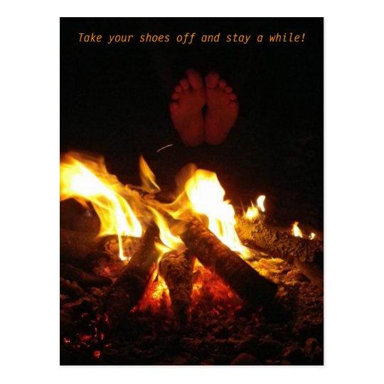 Campfire Footsies Postcard