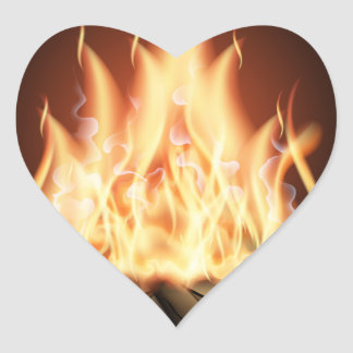 Campfire Heart Sticker