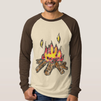 Campfire Long-Sleeve Baseball Jersey T-Shirt