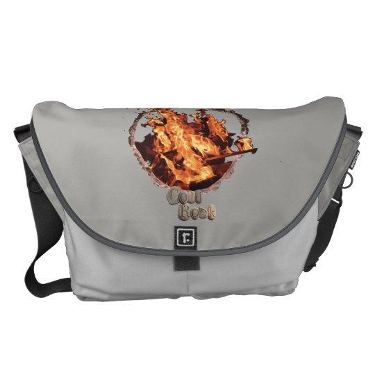Campfire messenger bag. courier bag