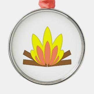 Campfire Metal Ornament