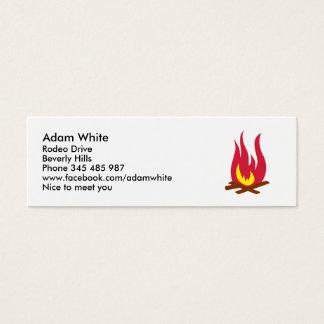 Campfire Mini Business Card
