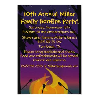 """Campfire Party Invitation 5"""" X 7"""" Invitation Card"""