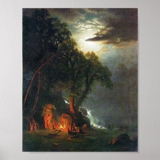 Campfire Site Yosemite Print