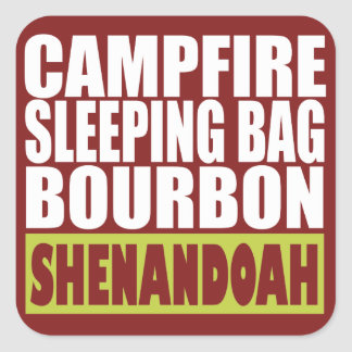 Campfire Sleeping Bag Bourbon Shenandoah Square Sticker