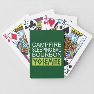 Campfire Sleeping Bag Bourbon Yosemite Bicycle Playing Cards
