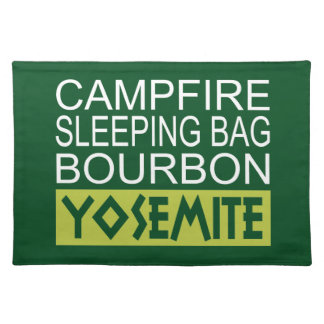 Campfire Sleeping Bag Bourbon Yosemite Placemat