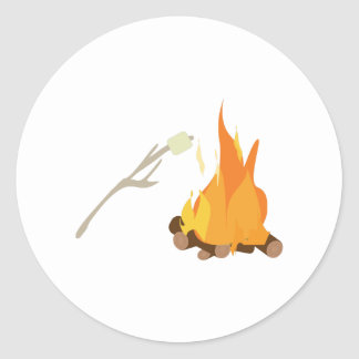 Campfire Treat Classic Round Sticker