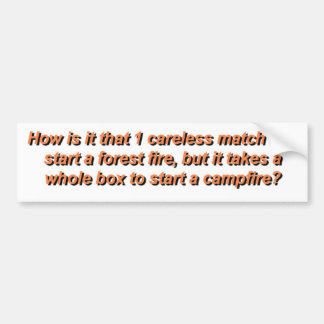 Campfires Bumper Sticker