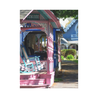Campground Cottage Row, Martha's Vineyard Canvas Print
