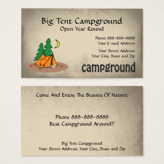 Campground Tent Outdoor Equipment Business Business Card
