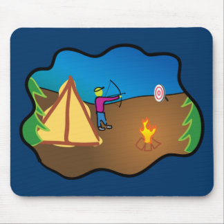 Camping and Archery Mouse Pad