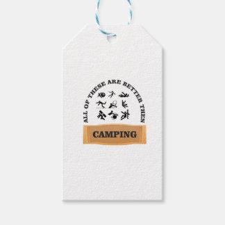 camping bad not good gift tags