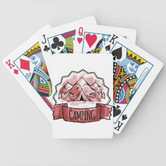 Camping Badge Bicycle Playing Cards