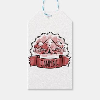 Camping Badge Gift Tags