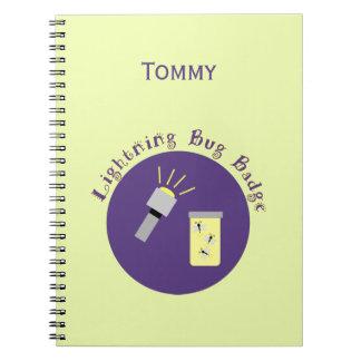 Camping Badge Lightning Bug Notebooks