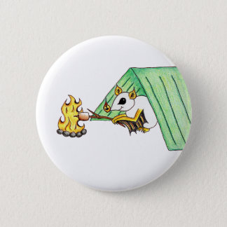 Camping Bat 2 Inch Round Button